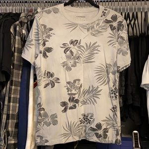 Men's Hawaiian Print Tee- Express